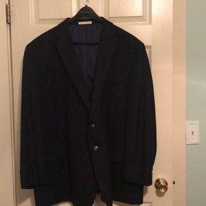 Black mean's suit jacket black lining